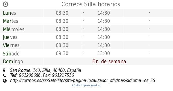 Silla Roque140 HorariosSan Correos HorariosSan Silla Roque140 Correos PZTwXiOku