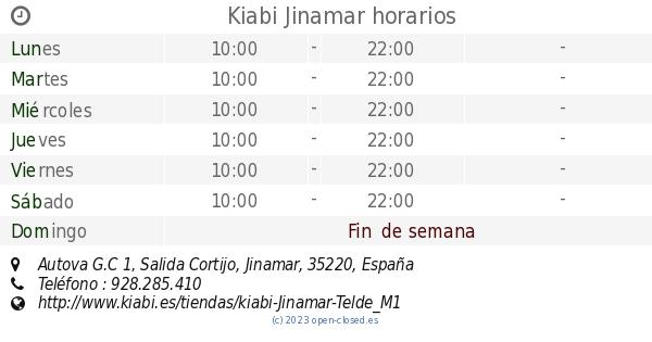 a698a3a0eca Kiabi Jinamar horarios