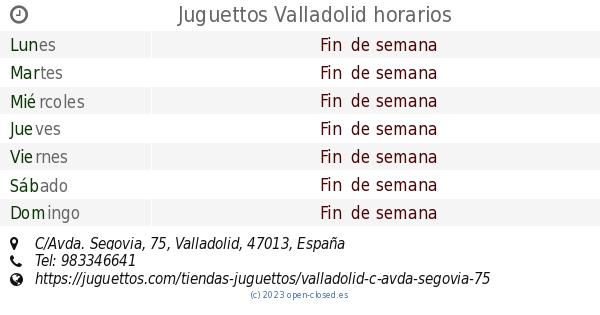 Juguettos Valladolid horarios 5ad328f5bb42