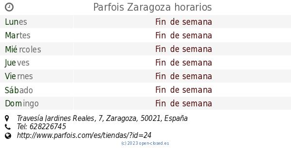 Parfois Zaragoza Horarios Travesía Jardines Reales 7
