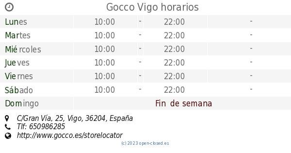 Gocco Vigo horarios efc11848877